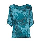 Bluse in Camouflage-Optik, deep sea
