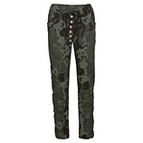 Hose mit Camouflage-Optik, khaki