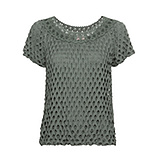 Shirt mit Loch-Optik, khaki