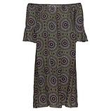 Kleid im Alloverprint, khaki