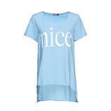 Long-Shirt mit Schriftzug, eiskristall