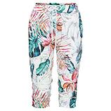 Shorts im floralen Look, weiß