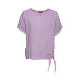 Leinen-Bluse mit Knoten, lilac