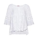 Bluse aus Floral Spitze, weiß