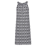 Kleid Neckholder, schwarz-weiß