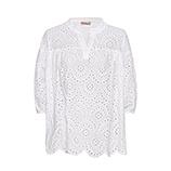 Oversize-Bluse aus Lochspitze, weiß
