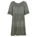 Kleid aus Floral-Spitze, khaki