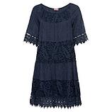 Kleid aus Floral-Spitze, navy
