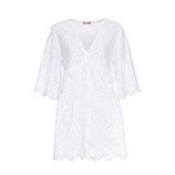 Kleid aus Lochspitze, weiß