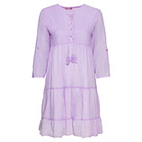 Midi-Kleid mit Volants, lilac