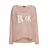 Strickpullover Rock, rosenholz