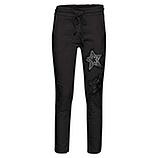 Hose mit Stern-Patch, schwarz