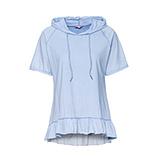 Shirt mit Volant-Saum, eiskristall