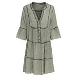 Midi-Kleid mit Volants, khaki