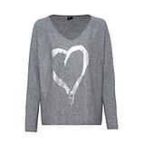 Strickpullover mit Herz, grau
