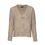 Oversized Grobstrickjacke, sand