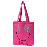 Shopper mit Smiley, pink