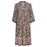 Maxi-Kleid im Alloverprint, grau