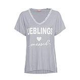 Shirt 'Lieblingsmensch', silber