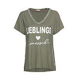 Shirt 'Lieblingsmensch', khaki