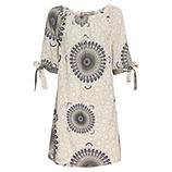 Kleid mit Carmen-Ausschnitt, sand