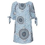 Kleid mit Carmen-Ausschnitt, bleu