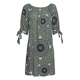 Kleid mit Carmen-Ausschnitt, khaki