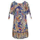 Kleid mit Carmen-Ausschnitt, blue glow