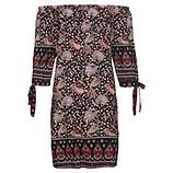 Kleid mit Carmen-Ausschnitt, schwarz
