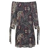 Plissee-Kleid im Alloverprint, magnet