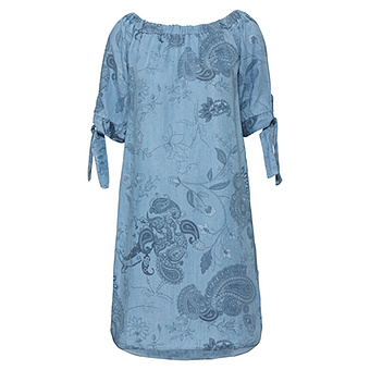 Kleid mit Paisley-Mustern, light blue