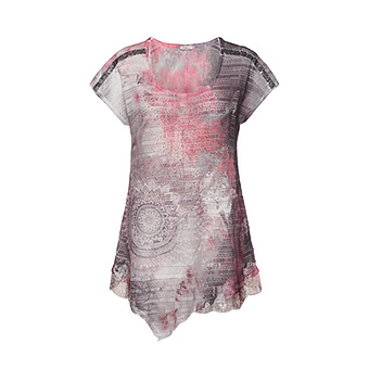 Transparentes Blusenshirt, burgund