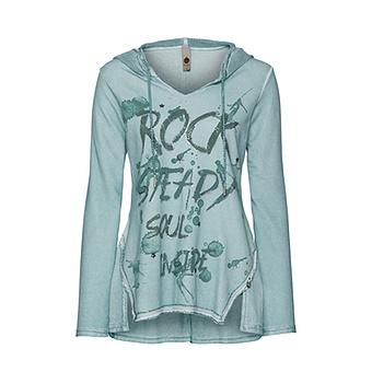 Sweatshirt mit Frontprint, fresh mint