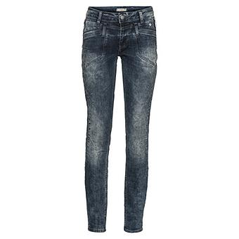 Used-Jeans mit Ziersteinen 82cm, denim