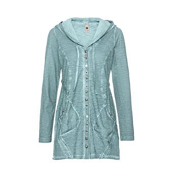 Shirtmantel mit Verzierungen, fresh mint