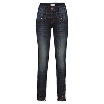 Jeans mit Pailletten 80cm, denim