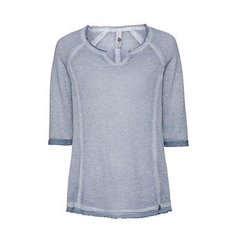 Basic Shirt mit Glitzer  3/4 Arm, moonlight