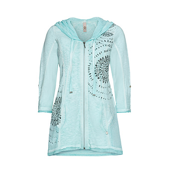 Shirtjacke mit Prints 3/4 Arm, ozean