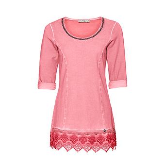 Basic Shirt mit Schmucksteine 3/4 Arm, hummer