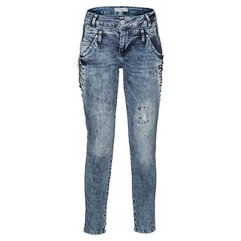 Jeans mit Glitzersteinen 72cm, denim stone washed