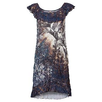 Kleid im Alloverprint, denim
