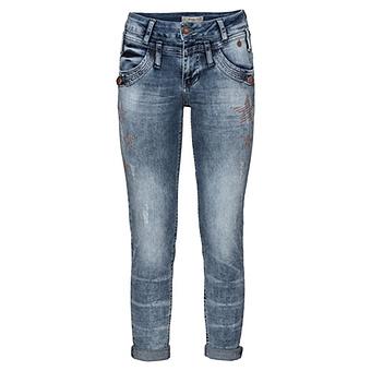 Jeans mit Sternen 72cm, light blue
