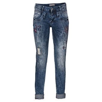 Jeans mit Stickerei, denim