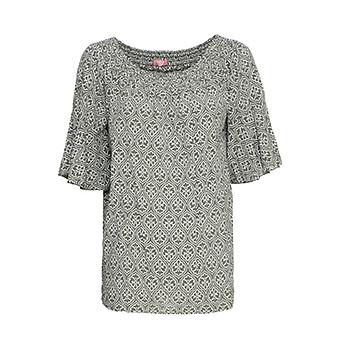Bluse mit Carmen-Ausschnitt, khaki