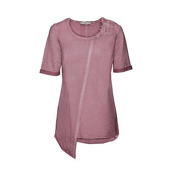 Basic Shirt mit Stern-Motiv, hortensie