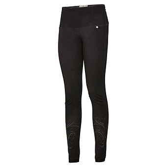 Baumwoll-Leggings mit Ziersteinen 72cm, schwarz