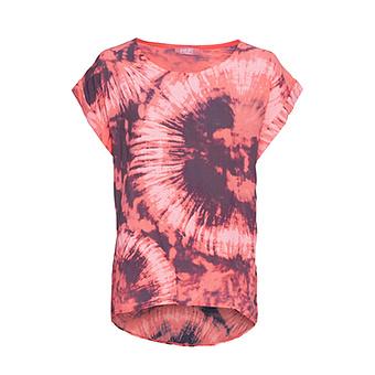 Bluse in Batik-Optik, red earth