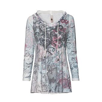 Tuinkashirt im Alloverprint, moonlight