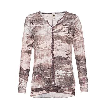 Crash-Shirt im Camouflage-Print, camouflage-taupe-rose