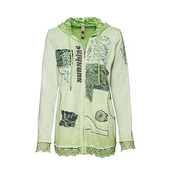 Strickjacke mit Patches, cactus